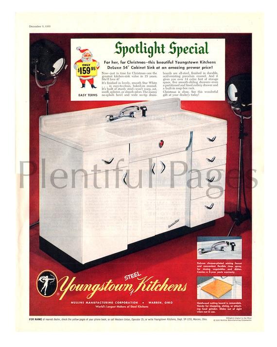 Vintage Youngstown Steel Enamel Kitchen
