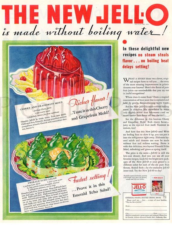 Original Vintage Jell-O Advertisement ~ 1915 ~ Backside Bon Ami Advertisement