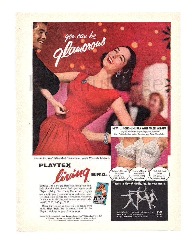 ed0d43b2628 1956 Playtex Living Bra Vintage Ad 1950 s Fashion