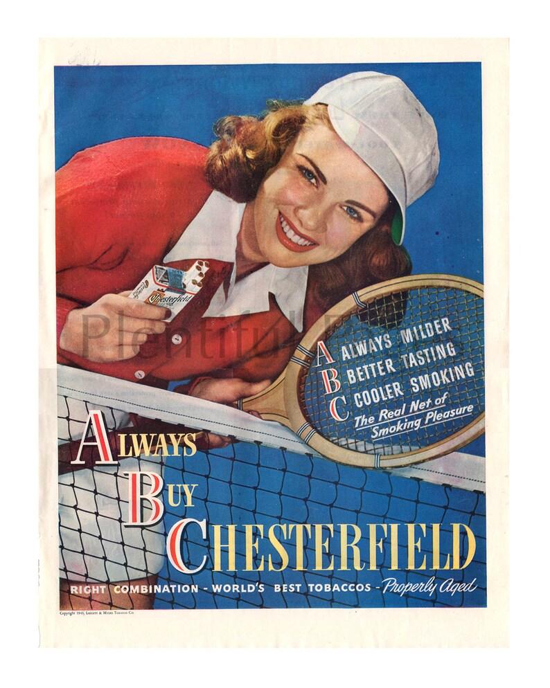 d8885c4c 1946 Chesterfield Cigarettes Vintage Ad Retro Cigarette Ad | Etsy