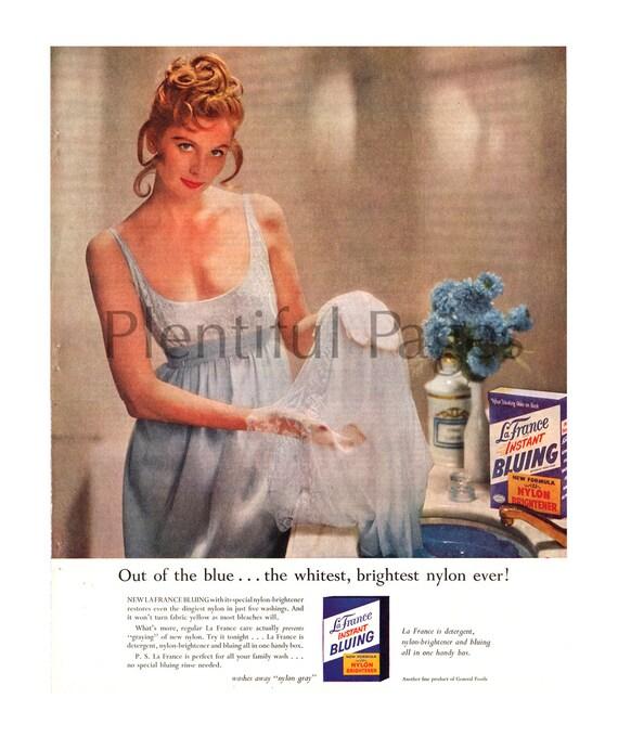 1957 Lafrance Instant Bläu Vintage Ad 50er Jahre Hausfrau Etsy