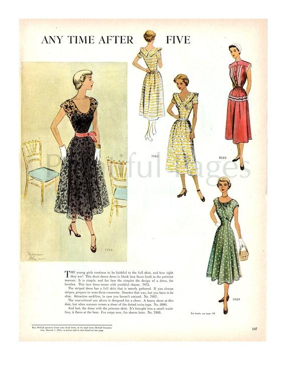 1950 McCall coser patrones Vintage Ad con las ilustraciones en   Etsy