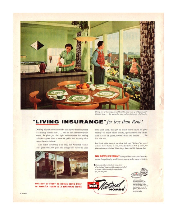 1955 National Homes Vintage Ad 1950 S Home 1950 S Etsy