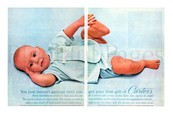 1960/'s Carter/'s Vintage Ad Great to Frame. Magazine Ad Kids/' Fashion Advertisement Advertising Art