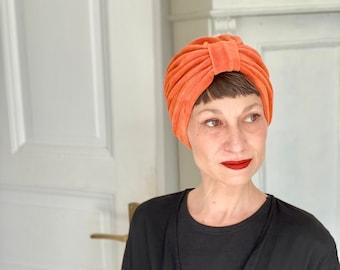 Samt Turban Orange