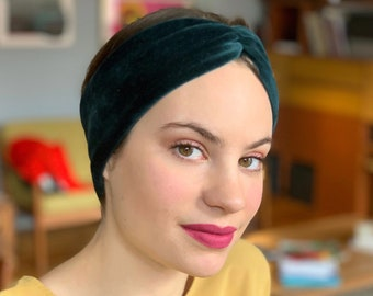 Samt Haarband dunkelgrün