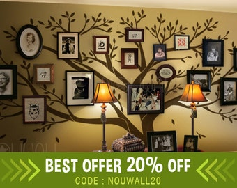 Wall decal - Tree Wall Decals  - Family Tree Wall decal - Photo frame tree decal Wall Stickers