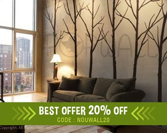 Tree Wall Decal Wall Stickers - Winter Tree decal - Wall Decals 036