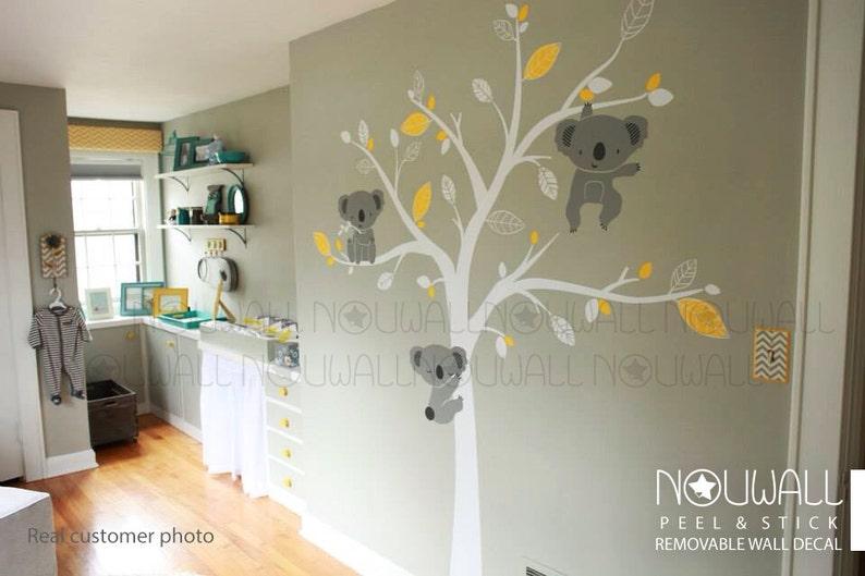 baby wall decal animal koala bear tree wall sticker | etsy