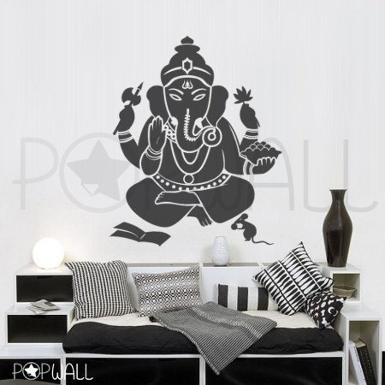 ganesha wall decal the remover of obstacles indian god wall   etsy