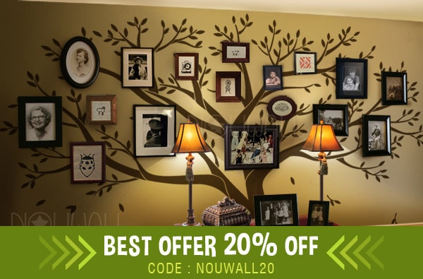 Photo Frame Wall Decal Family Tree Wall Decals Wall Etsy