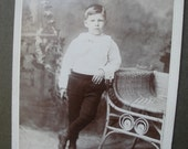 Victorian Cabinet Card Young Boy