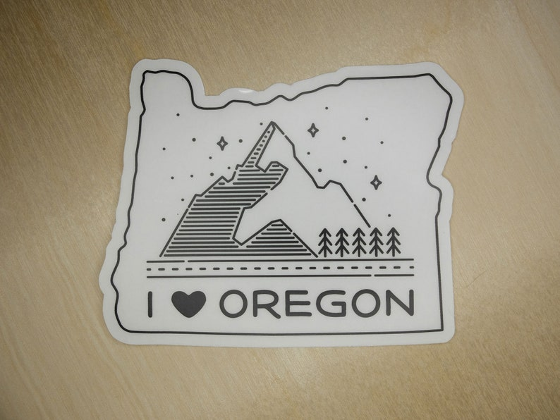 I heart Oregon State 4 clear sticker  Black or White image 0