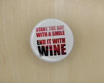 """Wine 1.25"""" Button"""