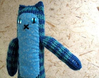 Blue Striped Knitty Kitty