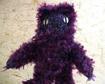 Purple Fuzzy Knit Monster
