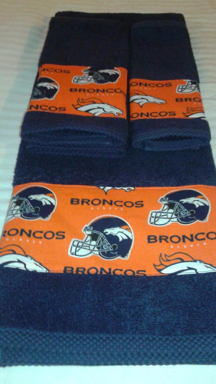 Denver Broncos Bath Towel Set New Fabric Now Available