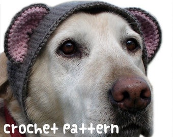CROCHET PATTERN - Pet Hat Costume - PDF Instant Download - Large Dog Teddy Bear - Cute Halloween Disguise