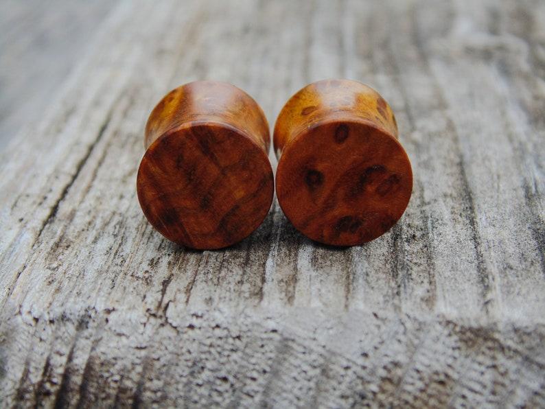 body jewelry 11mm Beautifully figured Golden Chittum Burl plugs Ear plugs. 716ths gauges