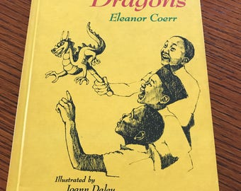 Kids Vintage Hardcover Book Twenty Five Dragons Eleanor Coerr Children's Book Club 1971 Illustrated Children's Childs Reading Book Storybook