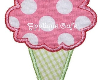 Items similar to three scoop ice cream cone double applique with