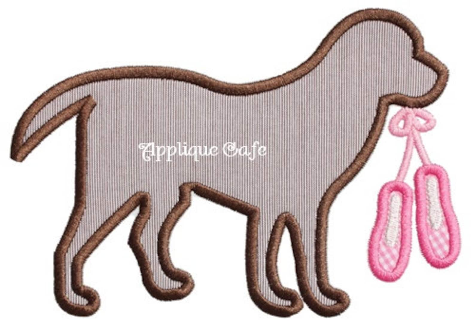 976 ballet dog machine embroidery applique design