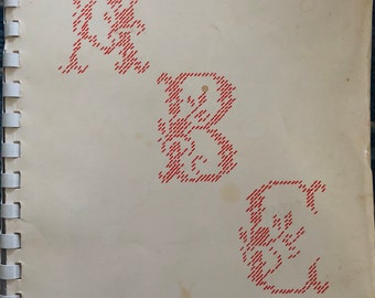 Alphabet book for Canvas Embroidery and Cross Stitch