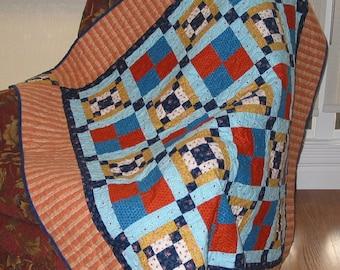 PDF Copy - Lap Quilt Pattern - Irish Chain Quilt Pattern