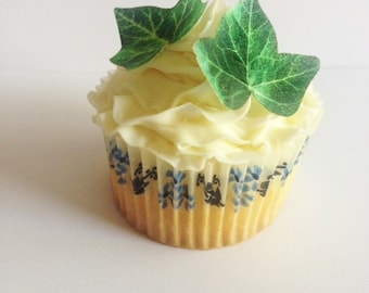 The Original EDIBLE Ivy Leaves - Dark Green - Cake & Cupcake toppers - Food Decorations