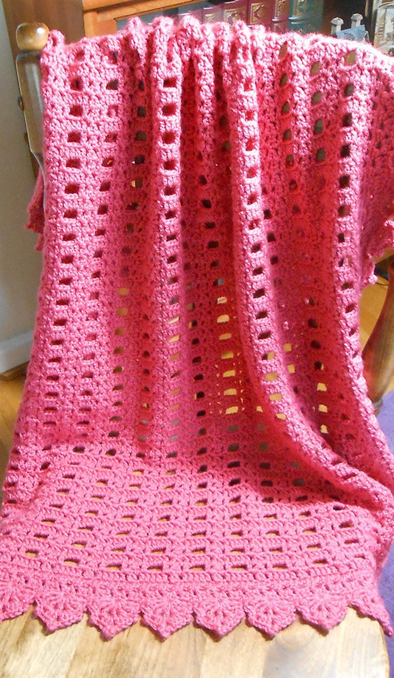 Hand Crocheted Baby Afghan Sweet Memento Soft Red Baby Etsy