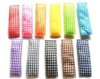 36 pcs Mix colors Plain satin Hair Clip COVERS Size 55 mm