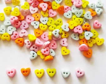Fashion Jewelry Cheap Price 100 Pcs Cute Heart Button Size 9 Mm For Crafts Findings Mix Earth Tone A Wide Selection Of Colours And Designs Jewelry & Watches