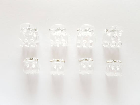 50 pcs transparent white DIY Pony tail holder base accessories findings