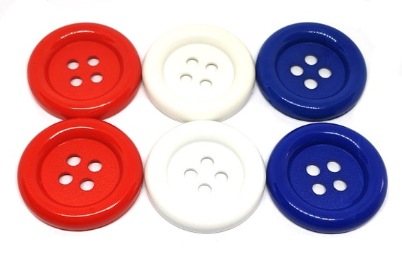 10 pcs Big Retro dot Buttons size 33 mm Purple Color white dot