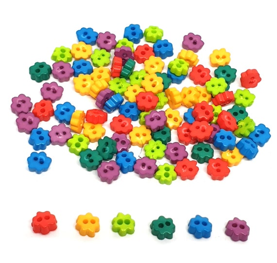 500 Tiny Doll Buttons FALL MIX for the same great price of only 3.59!