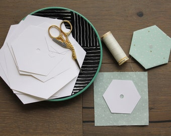 Hexagon English Paper Piecing Templates, Digital Download, 12 Different Sizes Available