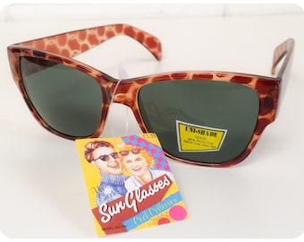 39790cb313 Classic Vintage 80s Leopard Tortoise Shell Wayfarer Sunglasses Brand New  Deadstock