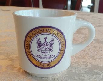 JMU James Madison University mug, Virginia, Vintage 1980's
