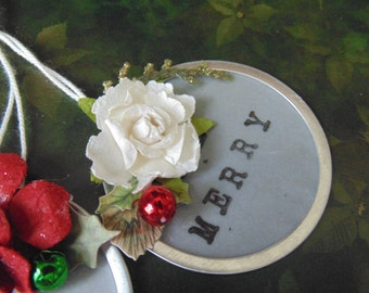 Christmas Hang Tags Be Merry Packages Ornaments Scrapbooking