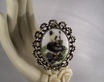 Panda Bear Brooch\/Pendant/necklace