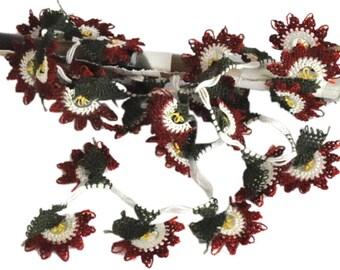 28 Handmade  OYA Needle Lace Flower Trim DIY projects