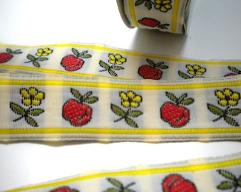 CLEARANCE SALE  50 discount   and daisies Jacquard Ribbon trim 15MM