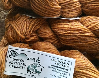 Green Mountain Spinnery, Mountain Mohair, Spice, knitting wool, worsted weight yarn, 140 yards