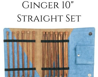 Straight Knitting Needle Set - Knitters Pride Ginger