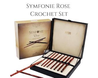 Rose wood crochet hook set - luxury, Symfonie Rose by Knitters Pride