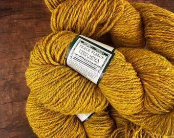 Peace Fleece yarn - Wild mustard, rustic wool yarn