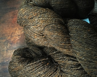 Peace Fleece Wooly Bear - brown worsted weight wool yarn