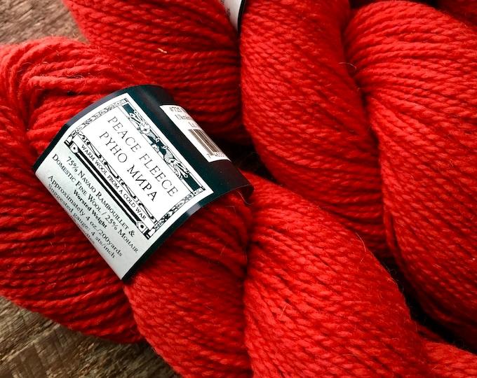 Featured listing image: Red yarn - Peace Fleece, Ukrainian Red