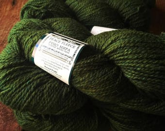 Peace Fleece - Hemlock Poashja, dark green knitting wool yarn