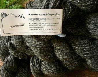Mountain Mohair - Raven, black wool yarn